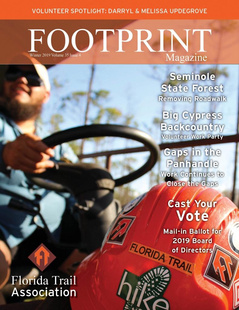 Footprint Magazine | Florida Trail Association - Florida Trail Map Pdf