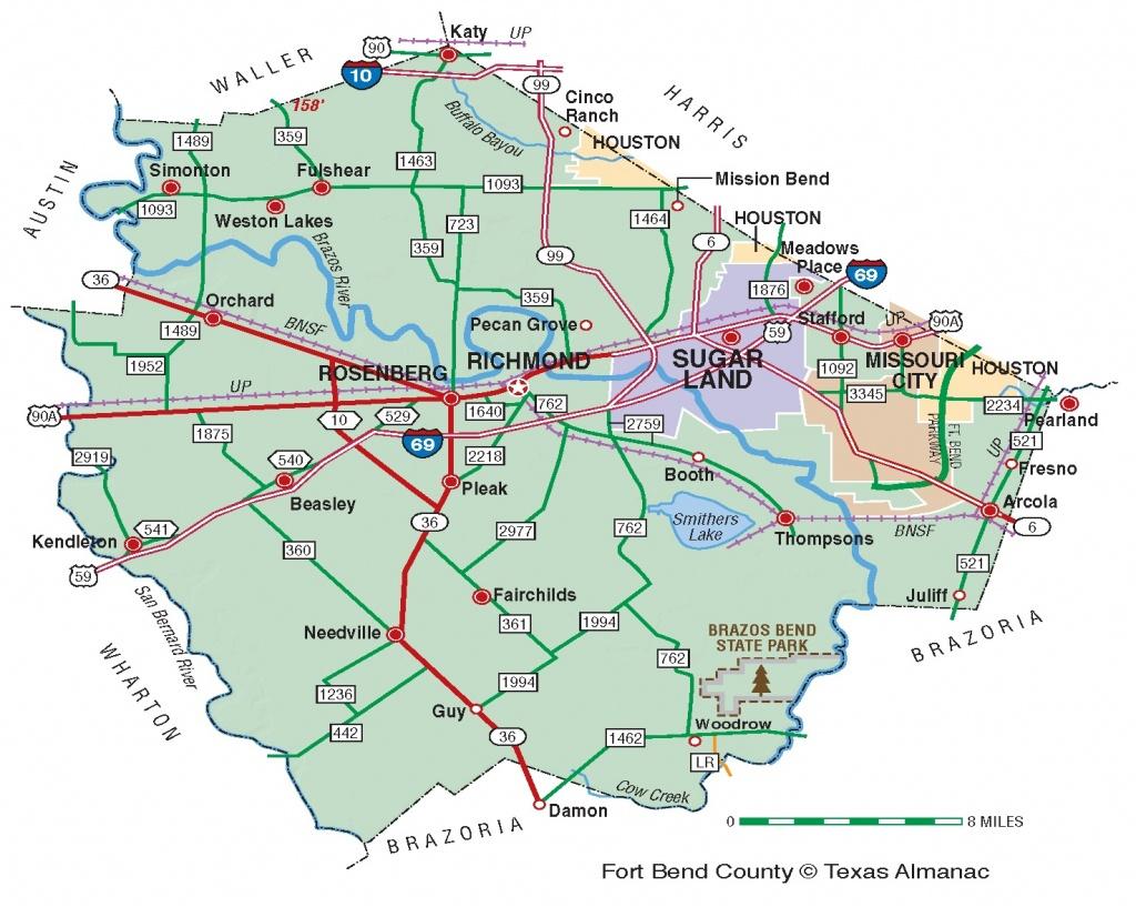Fort Bend County | The Handbook Of Texas Online| Texas State - Topographic Map Of Fort Bend County Texas