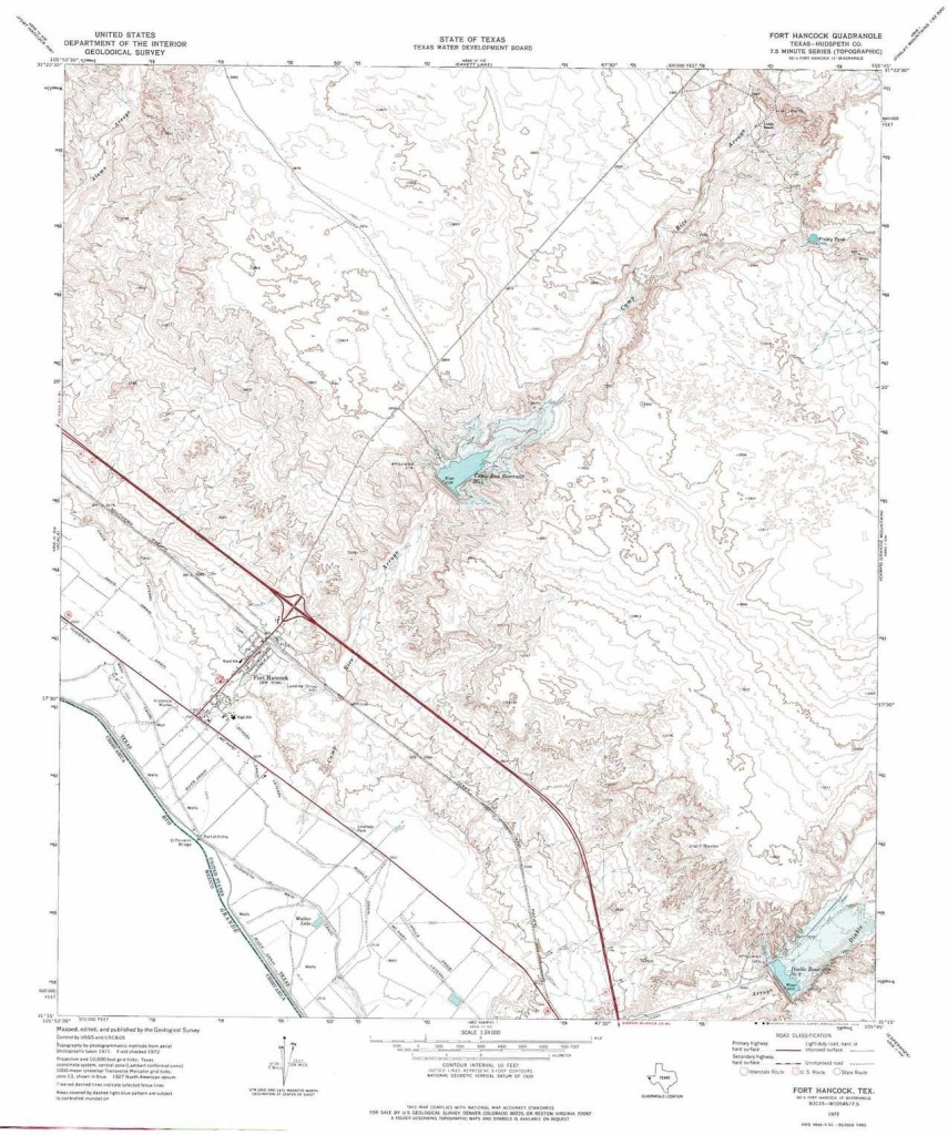 Fort Hancock Topographic Map, Tx - Usgs Topo Quad 31105C7 - Fort Hancock Texas Map