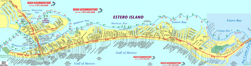 Fort Myers Beach Map - A Detailed Map Of Fort Myers Beach (Estero - Street Map Of Sanibel Island Florida