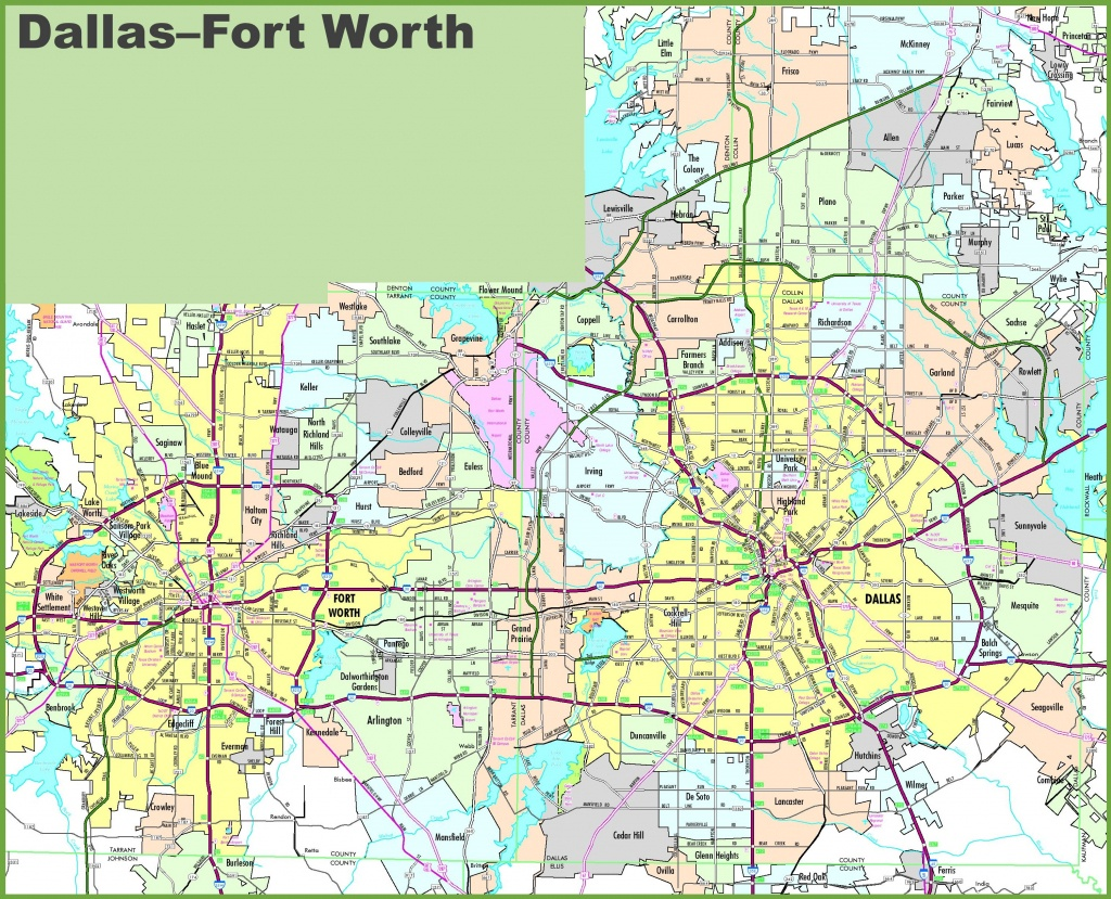 Fort Worth Maps | Texas, U.s. | Maps Of Fort Worth - Printable Map Of Fort Worth Texas