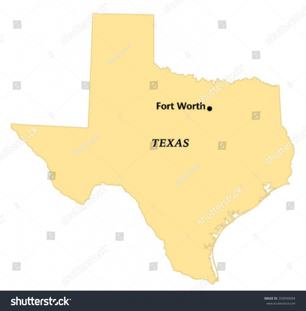 Fort Worth Texas Locate Map Stock Vector (Royalty Free) 259930094 - Where Is Fort Worth Texas On A Map