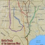 Found This 1870 Map Of The Cattle Trails Of The West | Cowboys Have   Texas Cattle Trails Map