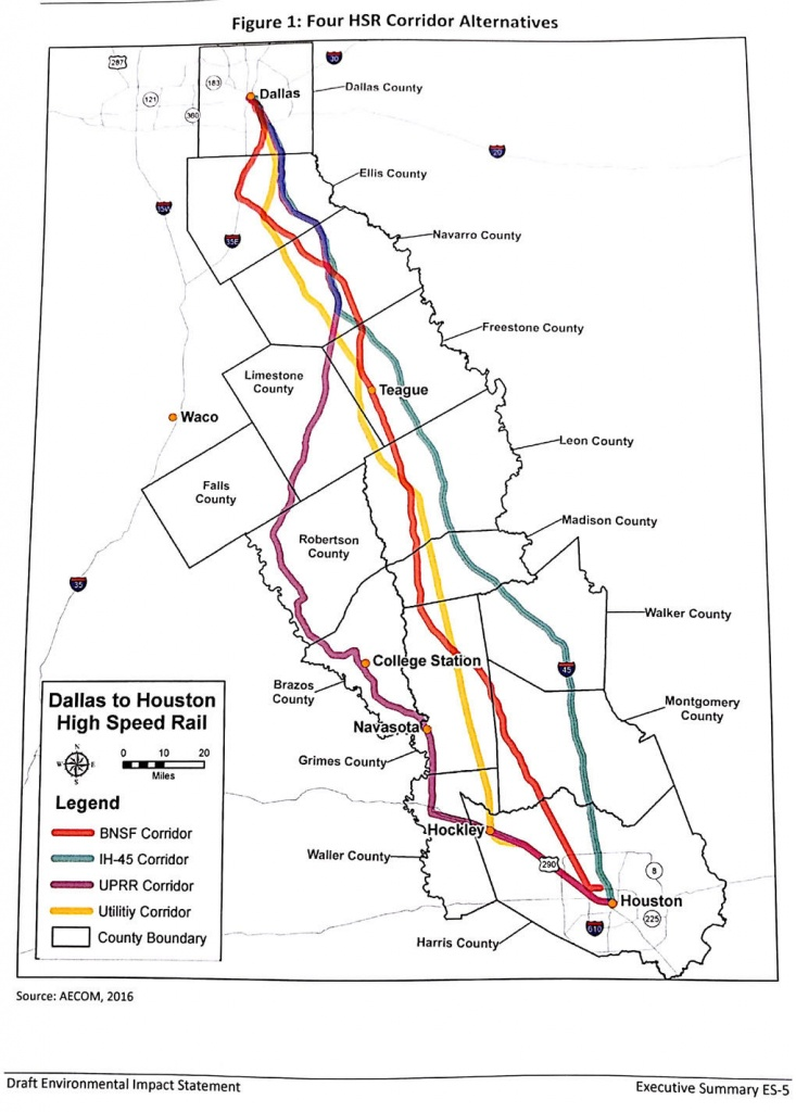 Fra Releases Environmental Impact Statement | News - Texas High Speed Rail Map
