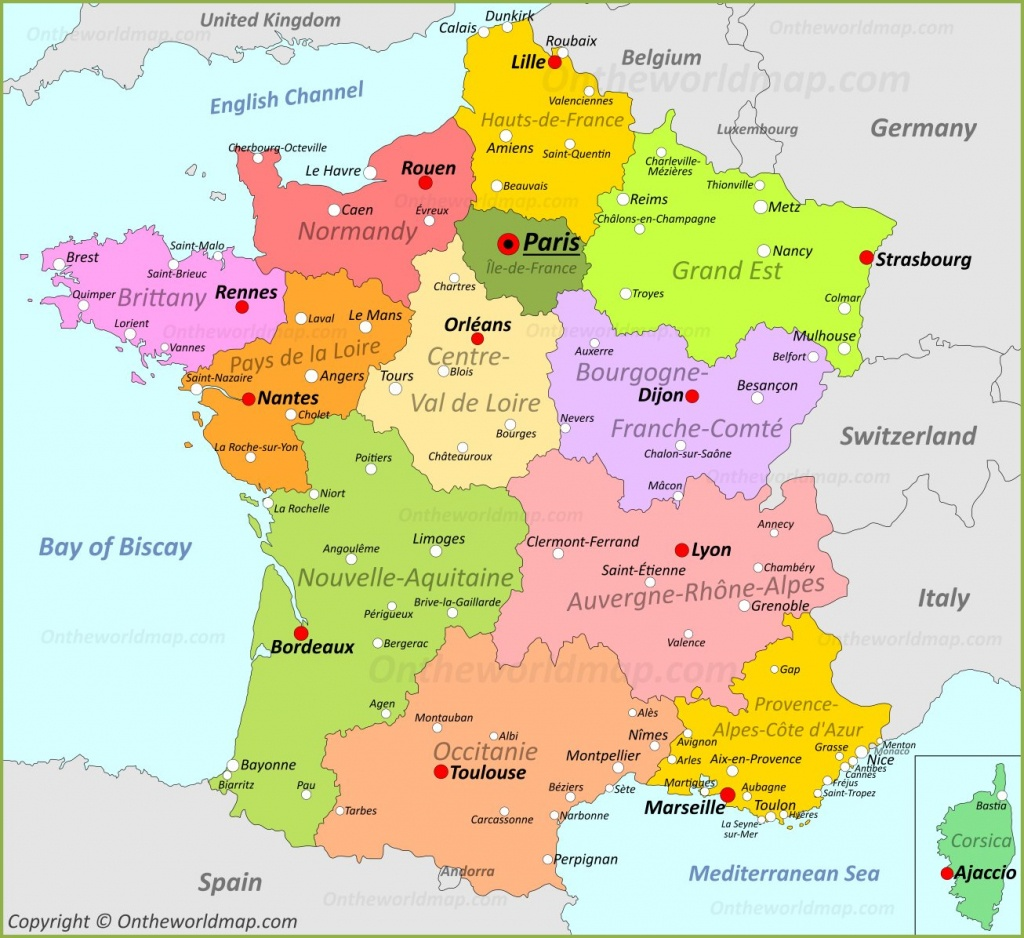France Maps | Maps Of France - Printable Map Of France With Cities