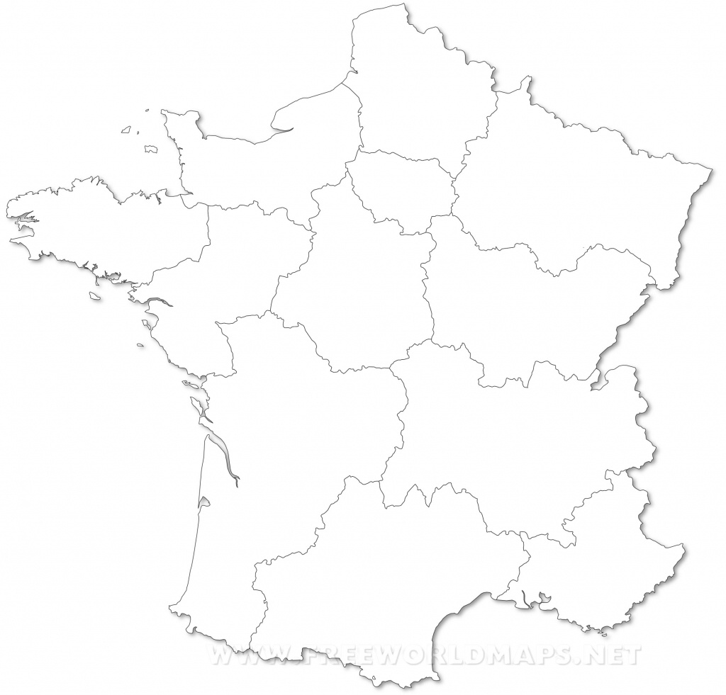 France Political Map - Map Of France Outline Printable