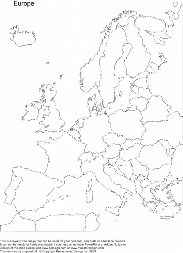 Printable Blank Map Of European Countries