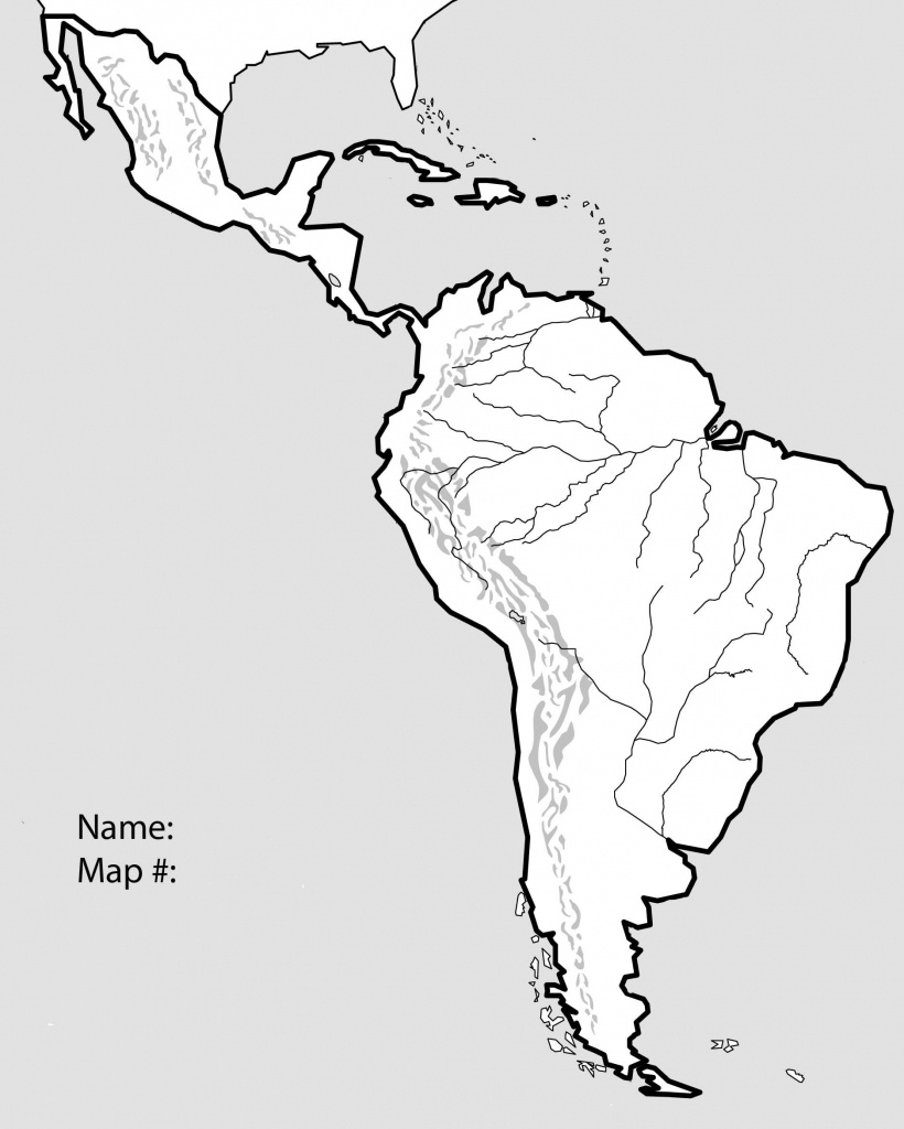 Free Blank Map Of North And South America Latin 17 At Physical Quiz - Free Printable Map Of North America
