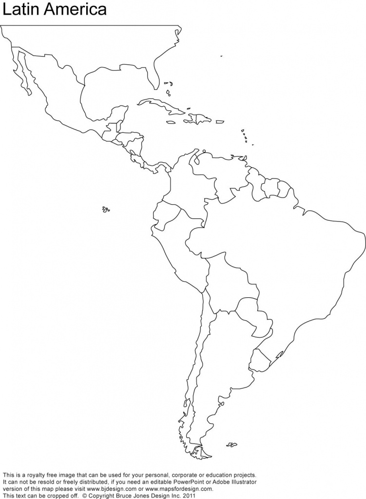 Free Blank Map Of North And South America   Latin America Printable - Printable Blank Map Of South America
