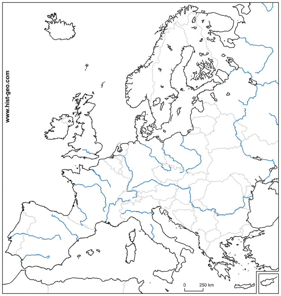 Free Blank Outline Map Of Europe With Its Countries And Its Main - Printable Blank Physical Map Of Europe