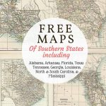 Free Downloadable Southern Usa State Maps From 1885. Includes Old   Free Old Maps Of Texas