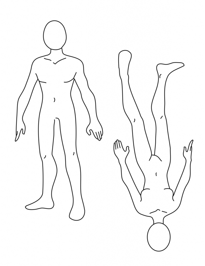 Free Human Body Outline Printable, Download Free Clip Art, Free Clip - Printable Body Maps