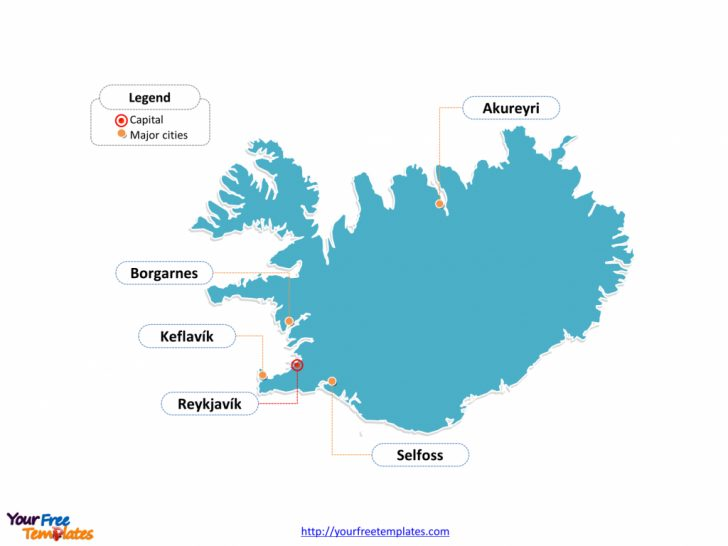 Free Printable Map Of Iceland