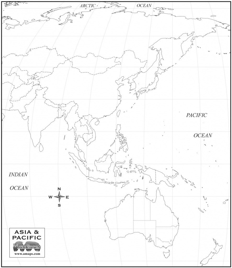 Free Map Of Asia Oceania - Free Printable Map Of Asia