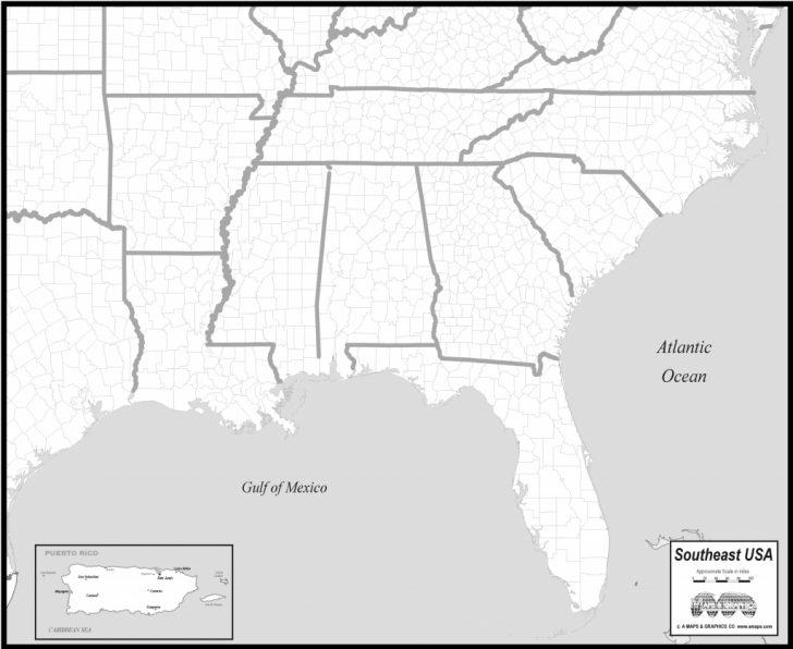 Printable Map Of Southeast Us