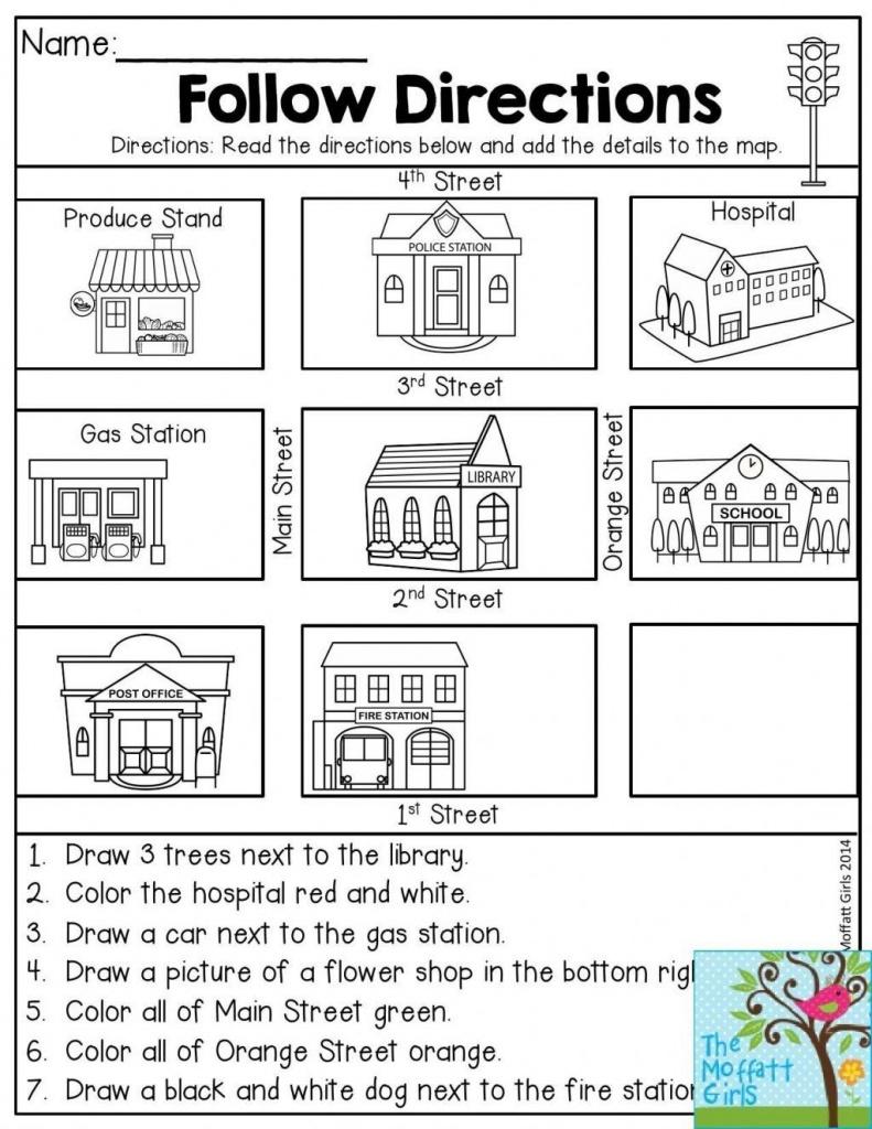 Free Map Skills Worksheets Math Worksheets Free Printable Following - Printable Map Worksheets