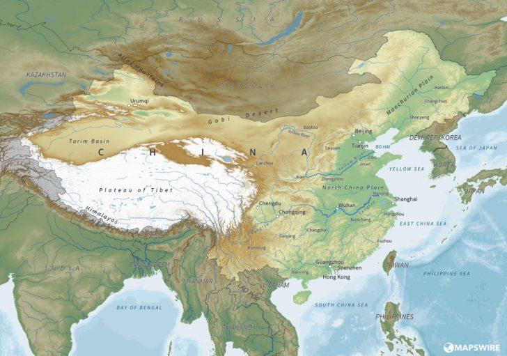 Free Printable Map Of China