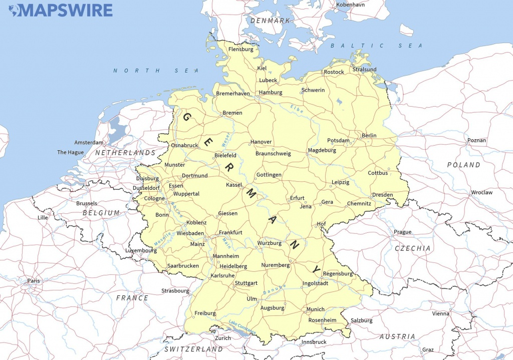 Free Maps Of Germany – Mapswire - Free Printable Map Of Germany
