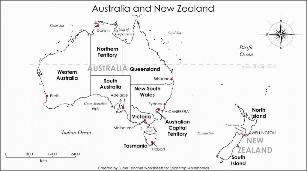 Free Outline Maps Australia And World Basic At Printable Blank Map - Free Printable Map Of Australia