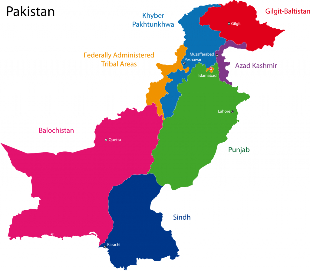 Free Pakistan Map Outline, Download Free Clip Art, Free Clip Art On - Printable Map Of Pakistan