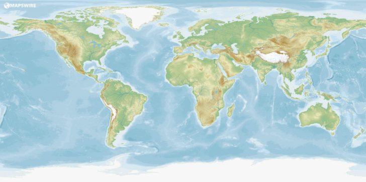World Physical Map Printable