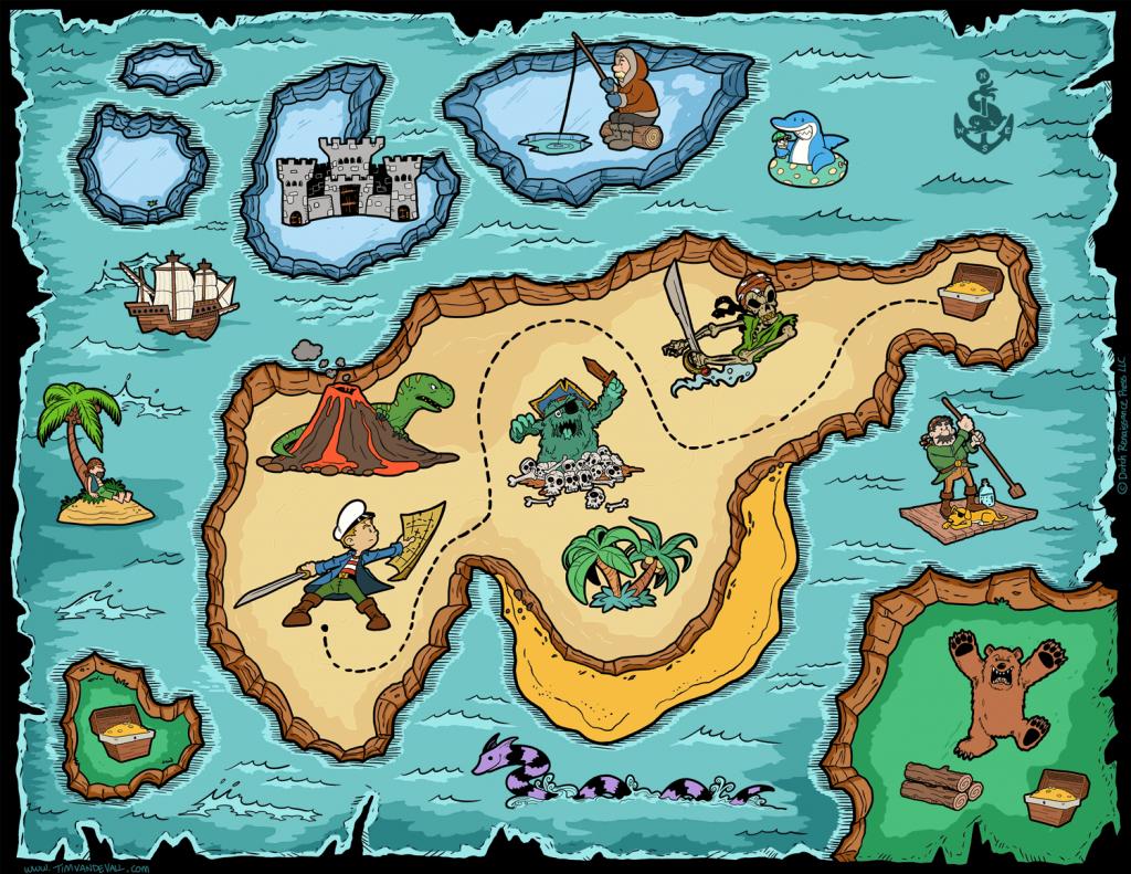 Free Pirate Treasure Maps For A Pirate Birthday Party Treasure Hunt - Children's Treasure Map Printable