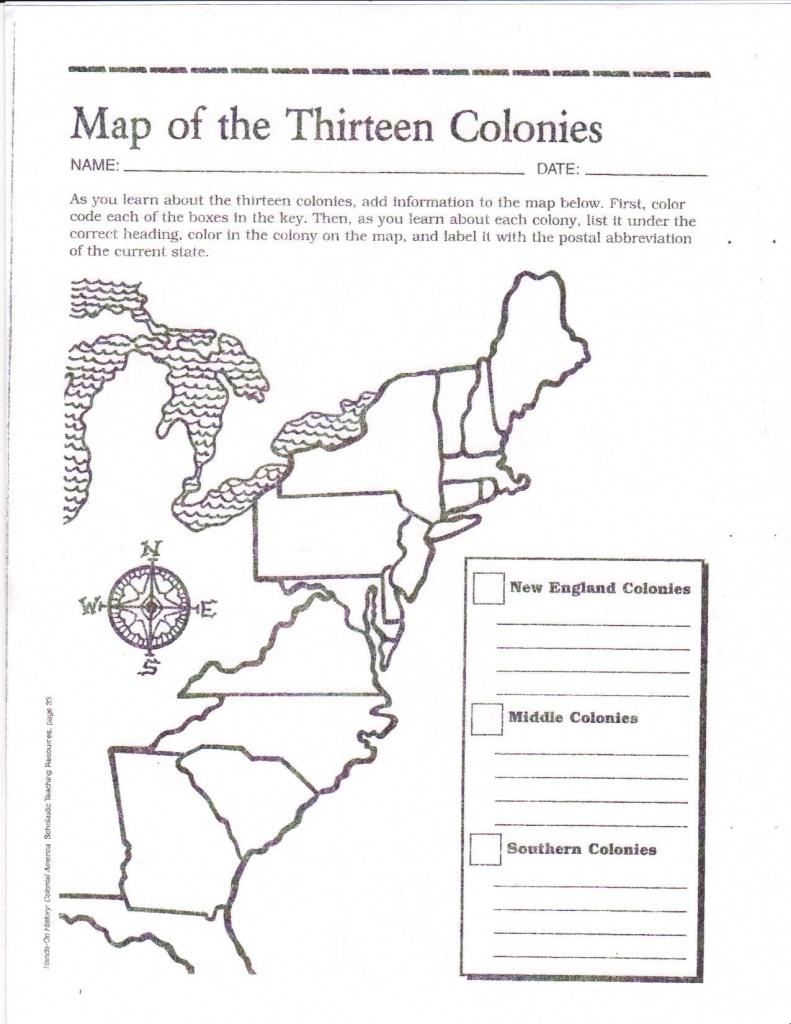 Free Printable 13 Colonies Map … | Activities | 7Th G… - Printable Map Activities