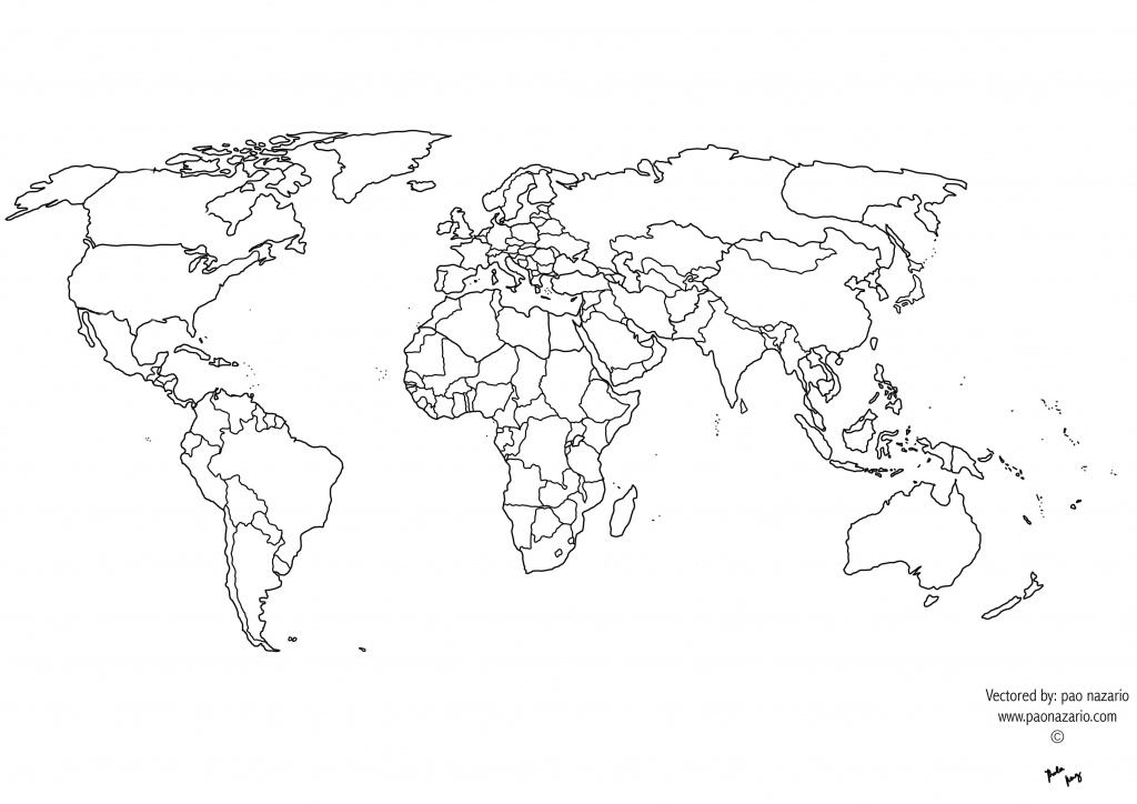 Free Printable Black And White World Map With Countries Best Of - Free Printable Black And White World Map With Countries Labeled