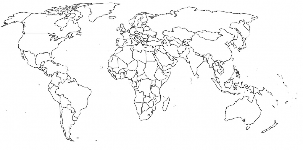 Free Printable Black And White World Map With Countries Labeled And - Black And White Printable World Map With Countries Labeled