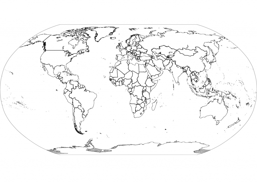 Free Printable Black And White World Map With Countries Labeled And - Free Printable Black And White World Map With Countries Labeled