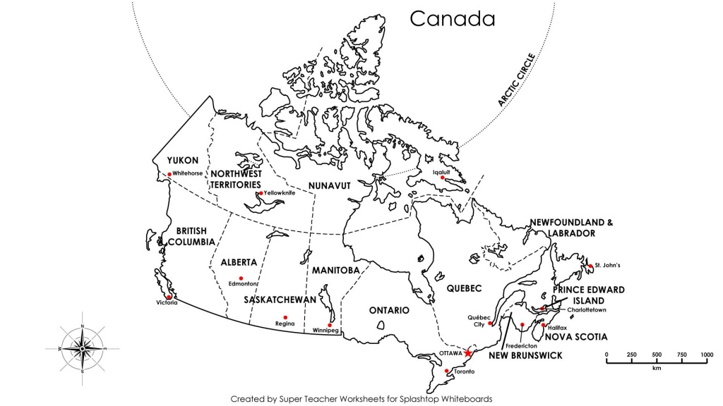 Free Printable Map Canada Provinces Capitals Google Search New Blank - Printable Map Of Canada