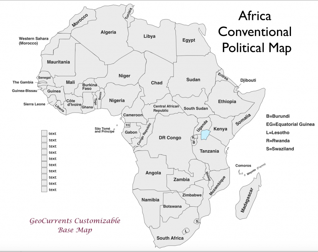 Free Printable Map Of Africa | Sitedesignco - Free Printable Map Of Africa With Countries