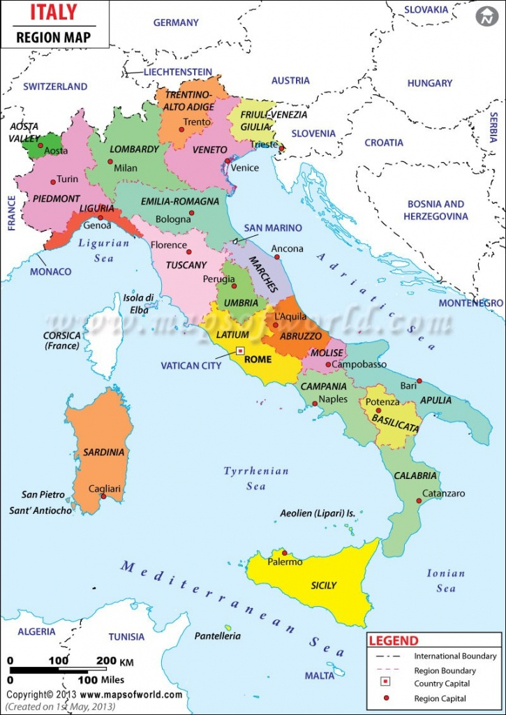 Free Printable Map Of Italy For Kids Simple Italy Surname Map - Printable Map Of Italy For Kids