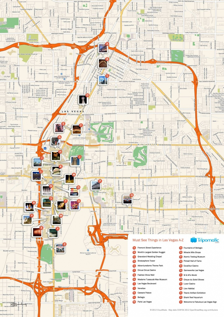 Free Printable Map Of Las Vegas Attractions. | Free Tourist Maps - Printable Map Of Las Vegas Strip 2018