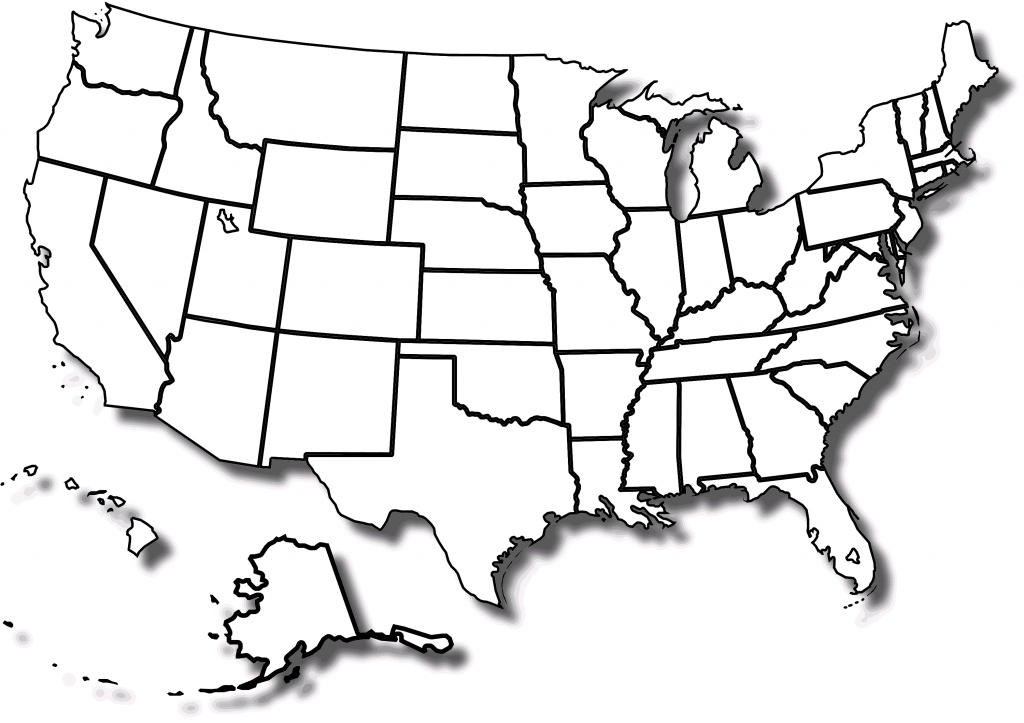 Free Printable Map Of The United States With State Names And Travel - Printable Map Of The Usa States