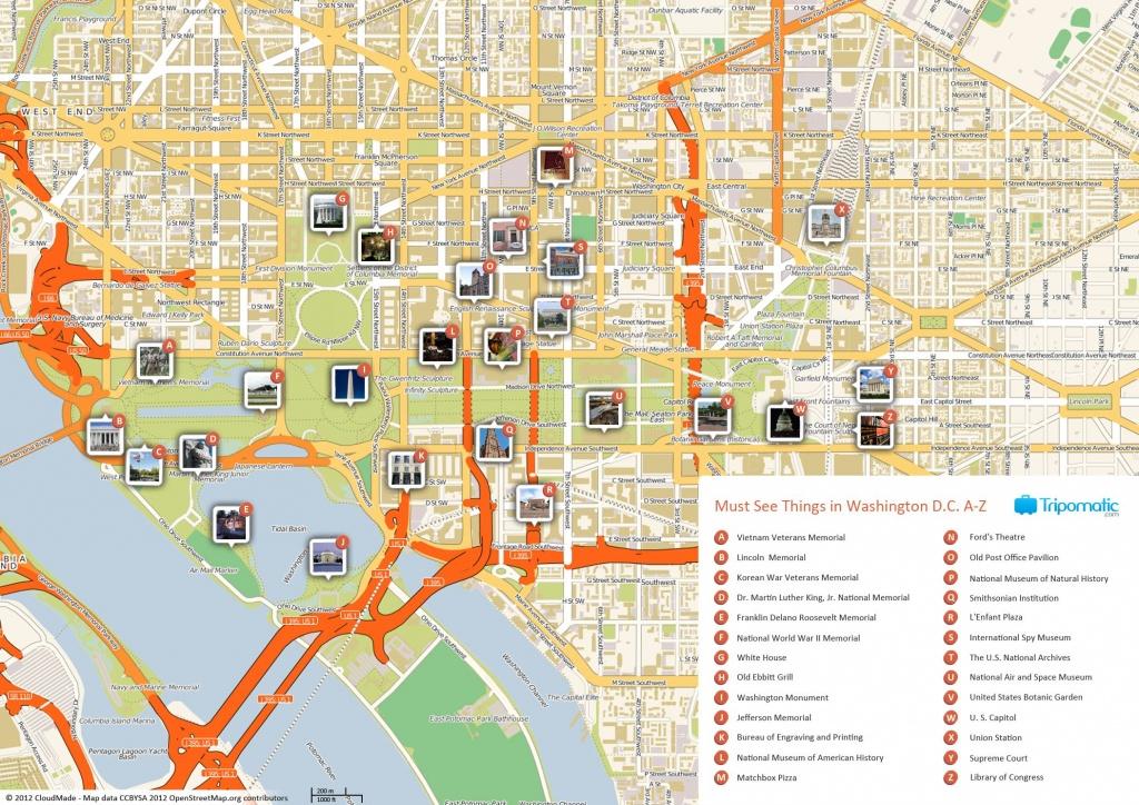 Free Printable Map Of Washington D.c. Attractions.   Washington Dc - Washington Dc Tourist Map Printable