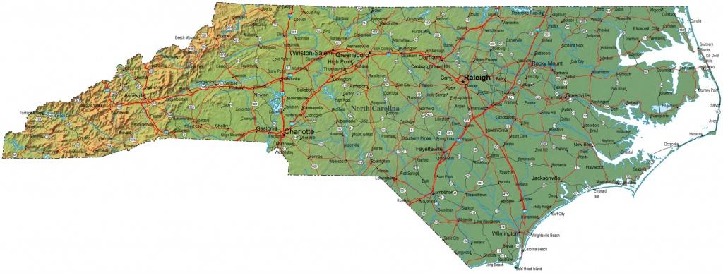 Free Printable Maps: Printable Maps North Carolina   Printfree - Printable Street Map Of Greenville Nc