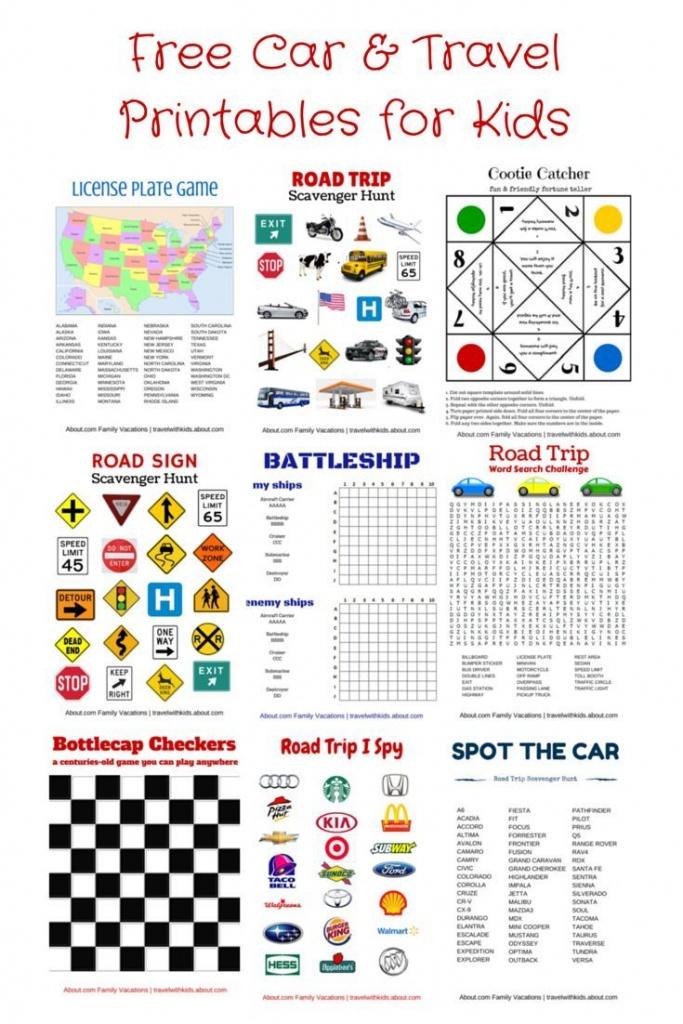 Free Printable Travel Games For Kids | Family Road Trips | Road Trip - Printable Travel Maps For Kids