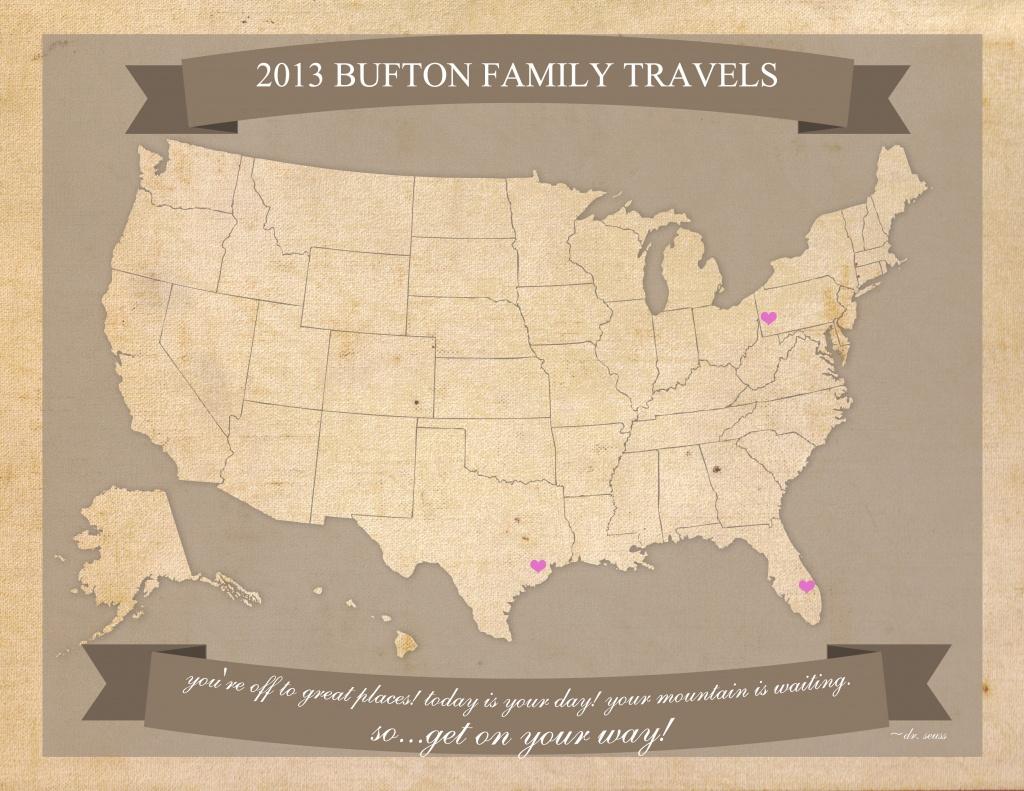 Free Printable United States Travel Map - Printable Travel Maps