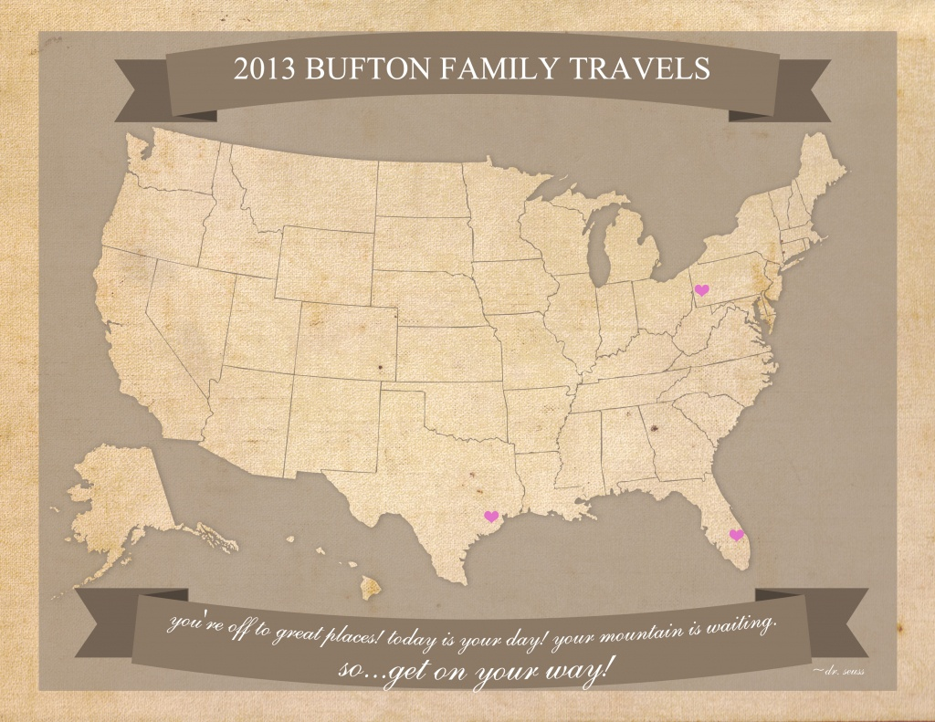 Free Printable United States Travel Map - United States Travel Map Printable
