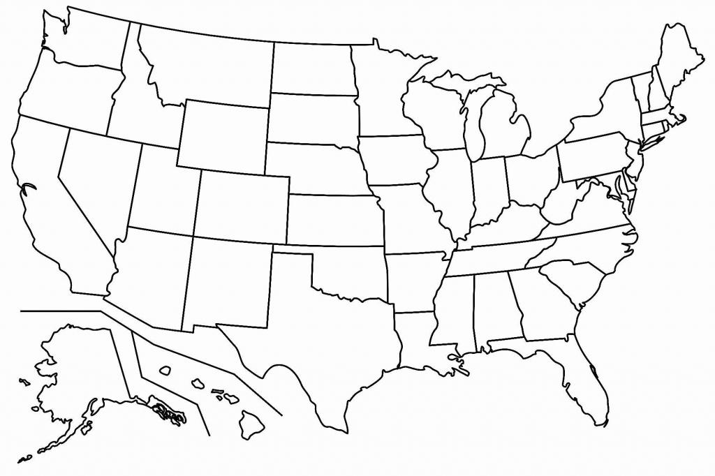 Free Printable Us Map Blank Blank Us Map Printable My Blog Printable - Blank Us Map With State Outlines Printable