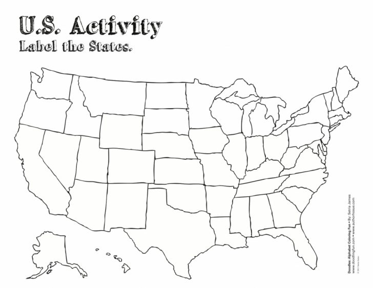 Map Of United States With State Names Printable