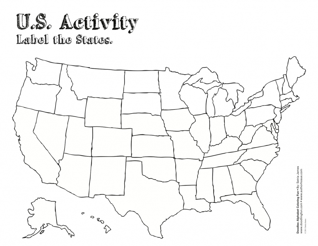 Free Printable Us Maps With State Names Usa Map And State Capitals - Map Of United States With State Names Printable