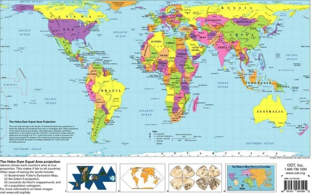 Free Printable World Map | D1Softball - Free Printable World Map