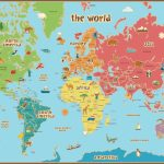 Free Printable World Map For Kids Maps And | Vipkid | Kids World Map   Map Of The World For Kids With Countries Labeled Printable