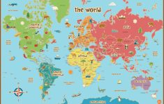 Free Printable World Map For Kids Maps And | Vipkid | Kids World Map – Map Of The World For Kids With Countries Labeled Printable