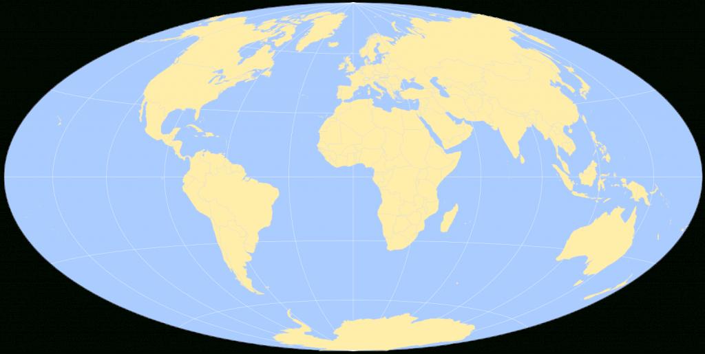 Free Printable World Maps - Round World Map Printable