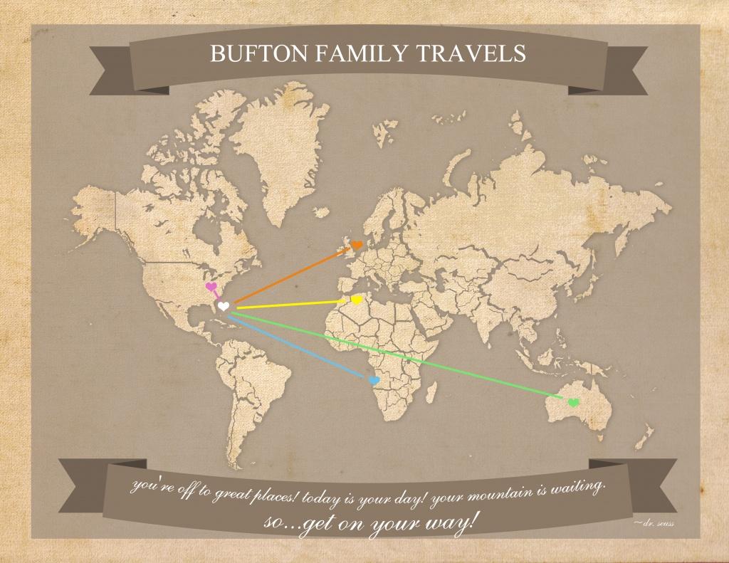 Free Printable World Travel Map - 8.5 X 11 Printable World Map