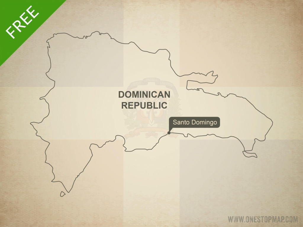 Free Vector Map Of Dominican Republic | One Stop Map - Free Printable Map Of Dominican Republic
