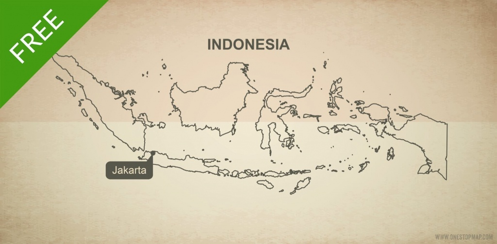 Free Vector Map Of Indonesia Outline   One Stop Map - Printable Map Of Indonesia